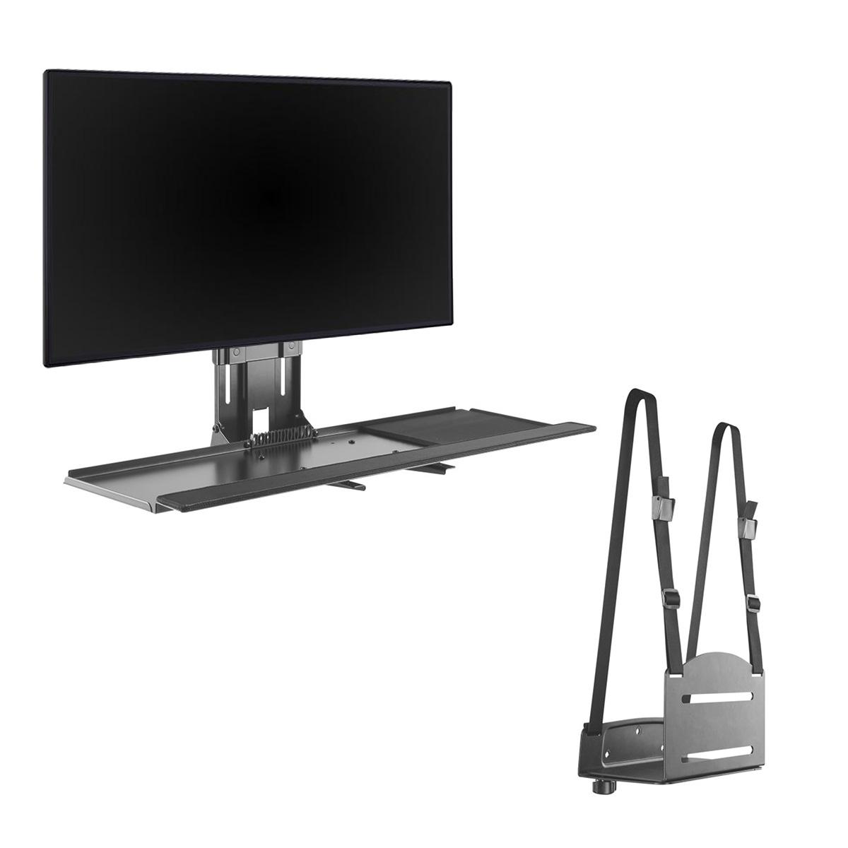 WM-3N1 Single Height Adjustable Display Wall Mounted Workstation
