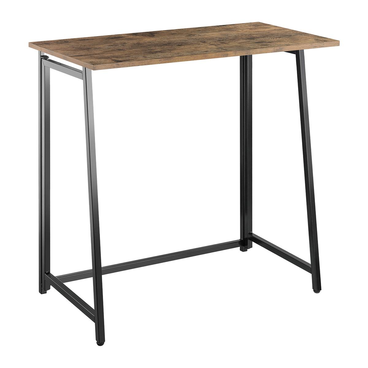 DF-8040F Foldable Workstation / Desk (Rustic Wood)