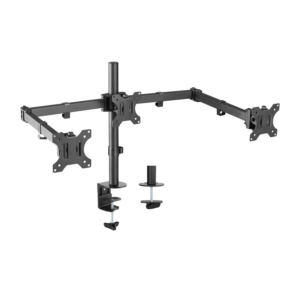 DM-EX30 Height Adjustable Triple Arm Monitor Desktop Mount
