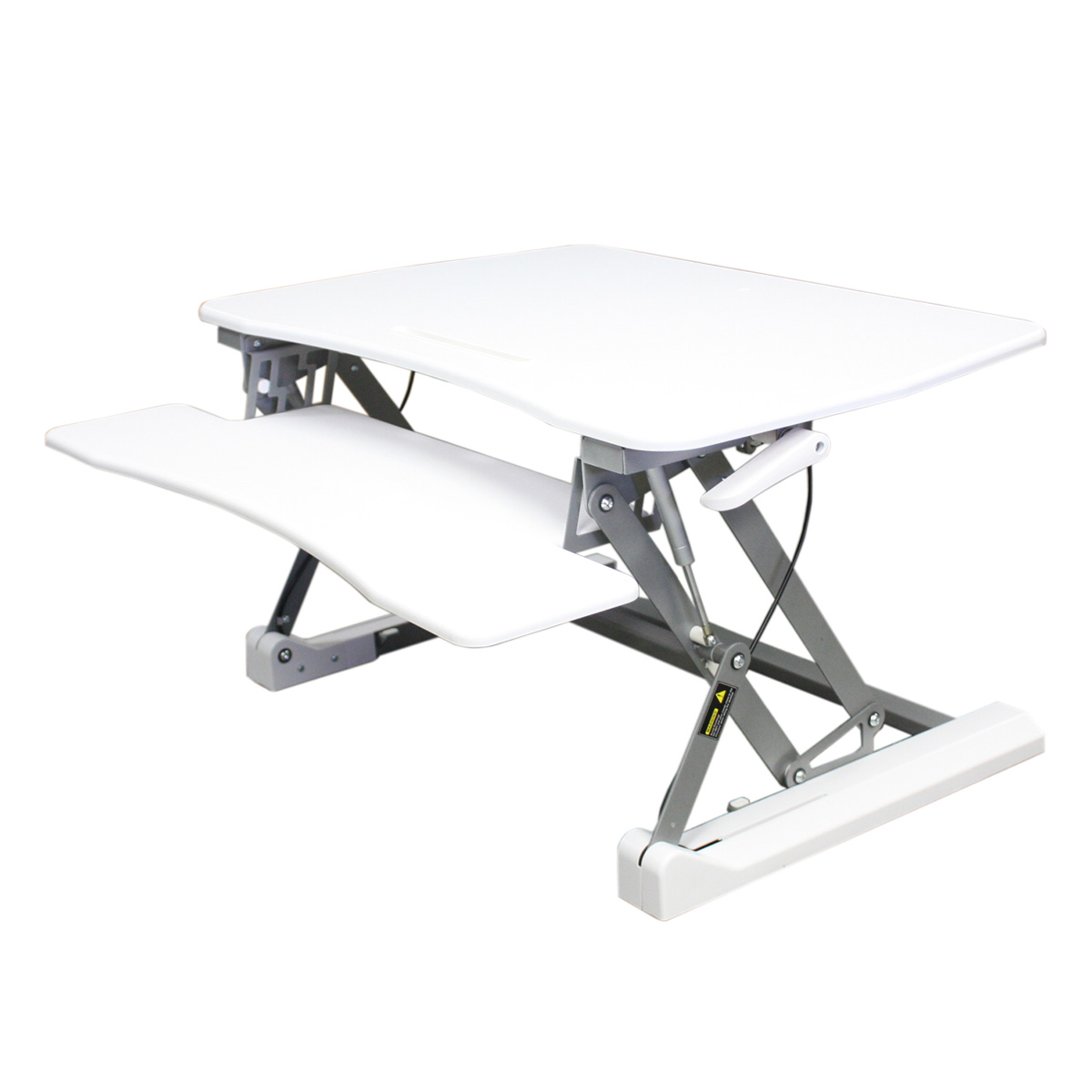 STS-DR35ii Premium Sit to Stand Desk Riser with Gas Spring Height Adjustment (White)