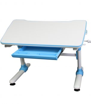 KD38B Height Adjustable Children's Desk Blue