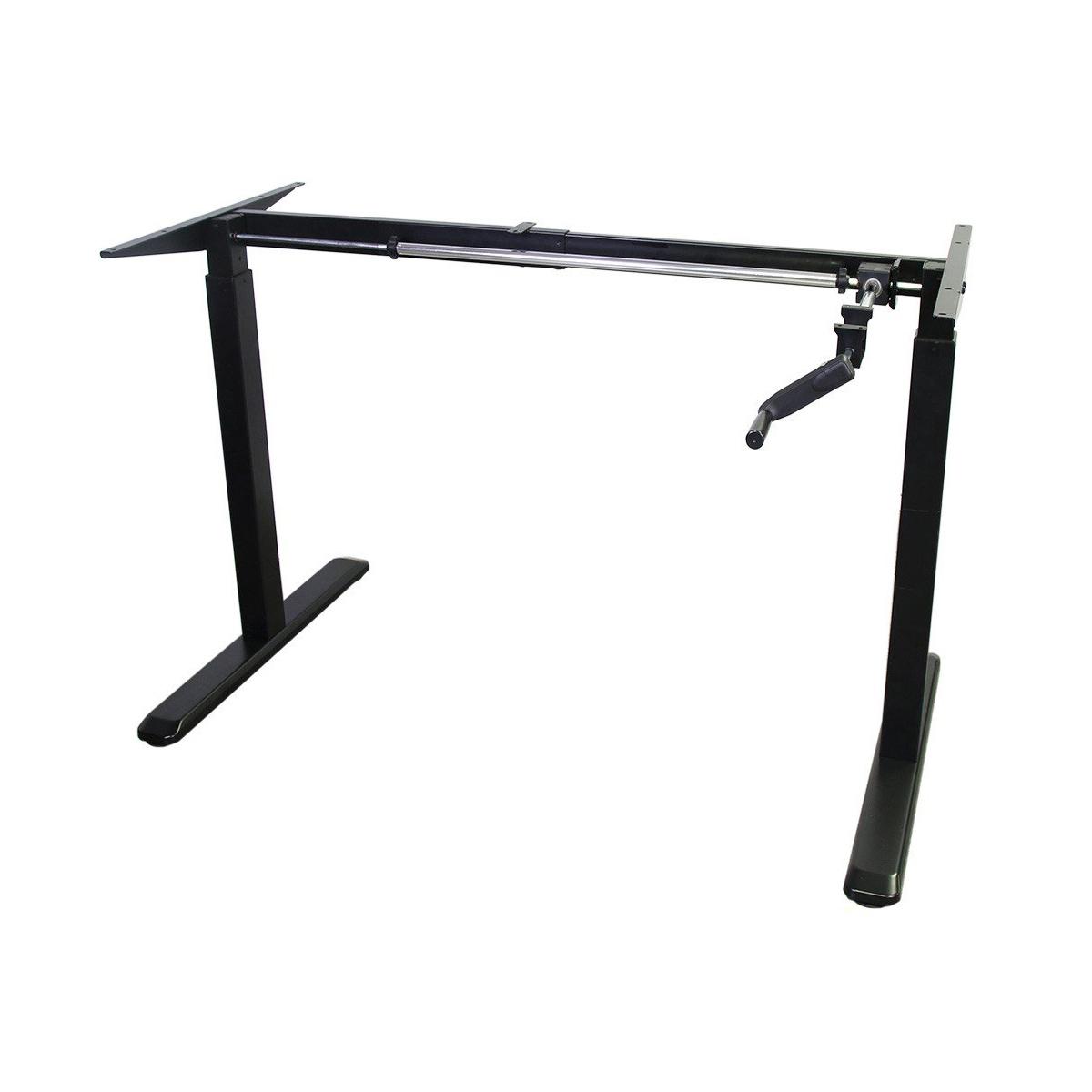 Floor Standing FS-DR48C Manual Crank Height Adjustable Desk Frame