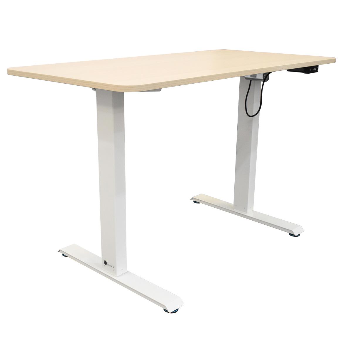 FS-MD47-LWD Light Wood Motorized Office Desk