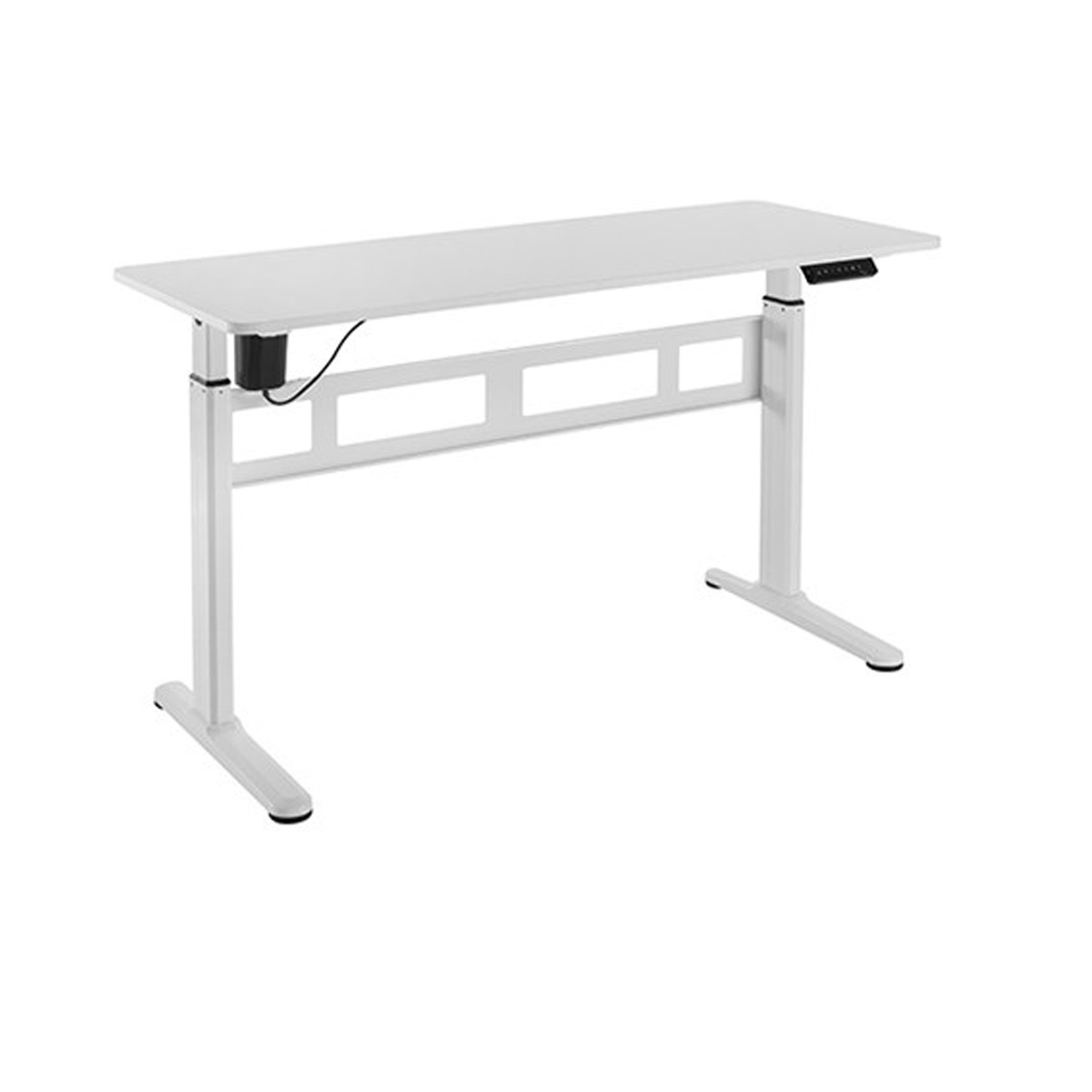 FS-OD55M-WH White Motorized Desk