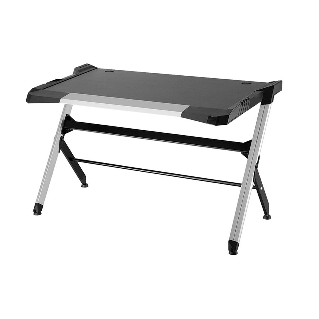 GD-51XL Lightweight Aluminum Gaming/PC Desk with RGB LED Lights (Black)
