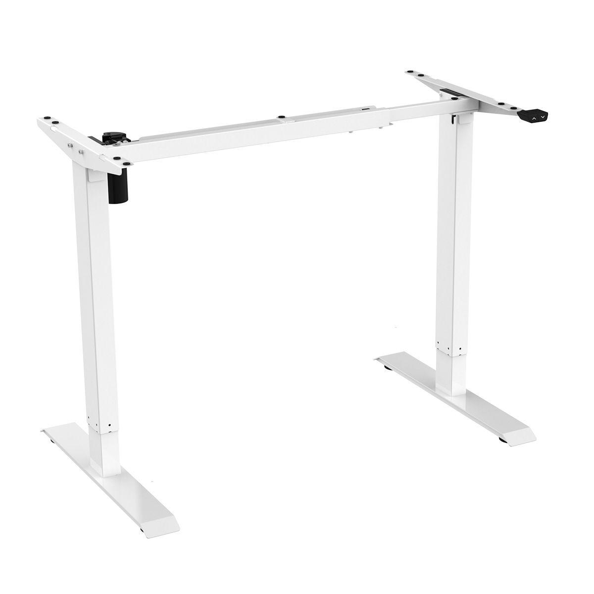 Floor Standing FS-DR48Mii Shallow Electric Height Adjustable Desk Frame (White)
