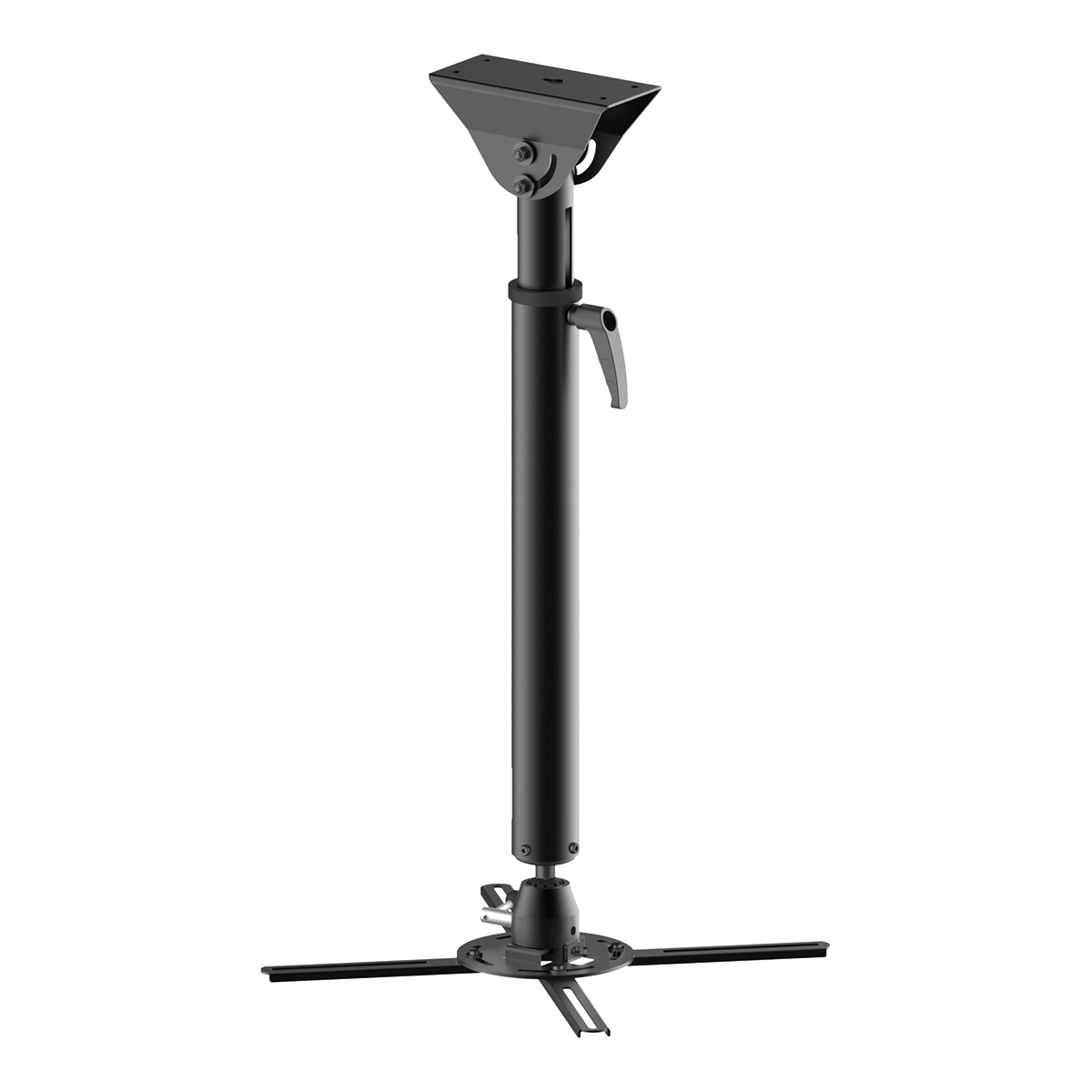 Universal Ceiling Projector Mount  PM-6790 for Pitched Ceilings (Black)