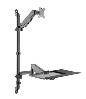 WMP-1332 Single Display Wall Mount Workstation